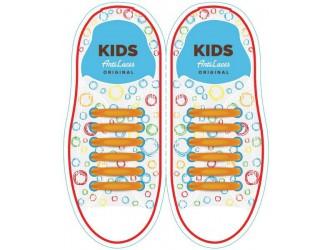 Kids Sireturi din silicon 38 mm ORANJE 6+6 buc