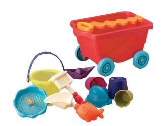 BX1594Z Set p/u joaca cu nisip si apa CARUCIOR MANGO( 11 accesorii)