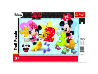31241 Trefl Puzzles 15 Frame - Let's count together/Characters
