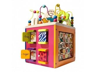 BX1004X Развивающая деревянная игрушка - ЗОО-КУБ
