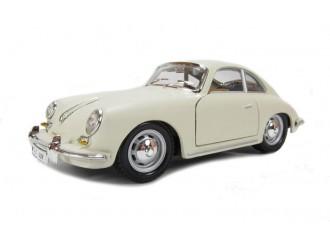 18-22079  Masina model PORSCHE 356B (1961) (fildes, rosu, 1:24)