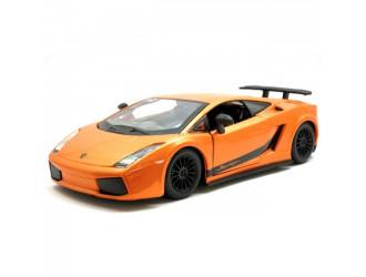 18-22108  Masina model LAMBORGHINI GALLARDO SUPERLEGGERA (2007) (portocaliu metalic, 1:24)