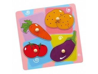59514 Деревянные плоские головоломки Овощи