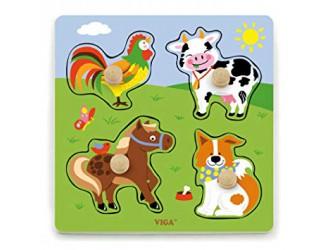 50839 Большая деревянная головоломка - Животные
