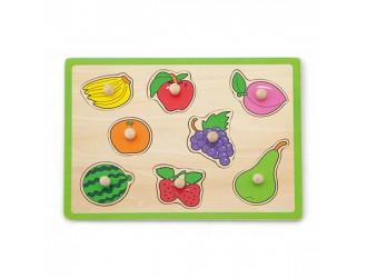 50020 Деревянная плоская головоломка - фрукты