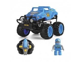 TY5873C-1 Masina CRASH CAR r/c - RINOCER (albastru, baterie de 4,8V)