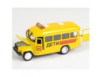 CT10-069-5 Автомодель Techno Park Детский автобус КАВЗ со светом и звуком