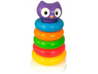 057901Развивающая игрушка - ПИРАМИДКА СОВА
