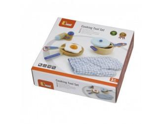 50115 Деревянный набор для приготовления пищи Viga Toys Cooking Tool Set Blue
