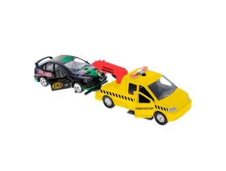 CT-1241-W(WB)PUS Set de joaca-Evacuator cu masinute(sunte,lumini)