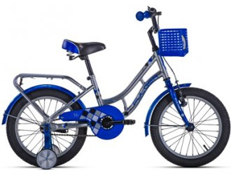 "FKS19-S16I-CHB Bicicleta  Fulger™ 16"" - Iron- -16 Kid (85%montat) crom/albastru"