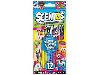 40515 Set creioane aromate colore-Fantezie SCENTOS (12culori)