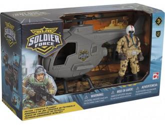 545006 Set de joaca cu soldati PATROL HELICOPTER