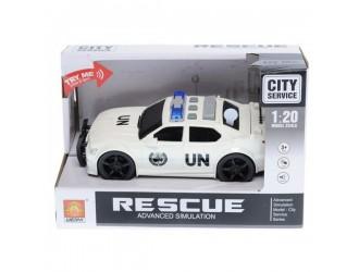 "WY500C  Masina cu inertie ""Police Car"" (lumina / sunet)"