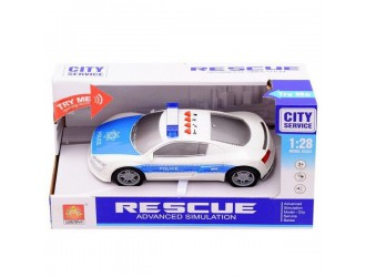 "WY630D  Masina cu inertie ""Police Car"" (lumina / sunet)"