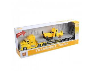 WY781A  Masina cu inertie Transport Truck cu avion (lumina/sunet)