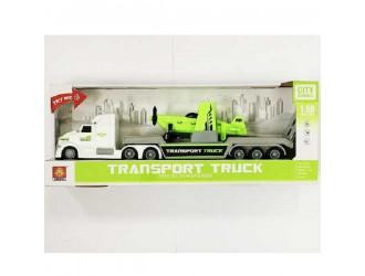 WY781B  Masina cu inertie Transport Truck cu avion (lumina/sunet)