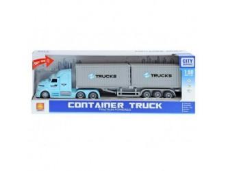 WY784B  Masina cu inertie Container Truck (lumina/sunet)