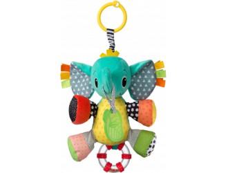 005378I Игрушка навесная мягкая с прорезывателем Infantino Слоненок