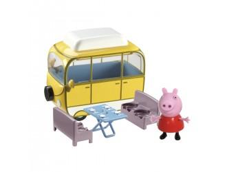 15561 Set de joaca Peppa - FUN CAMPING (autobuz, figura Peppa)
