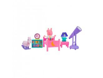 PEP0560 Set de joaca Peppa - Dormitor (figura Peppa, accesorii, lumina)