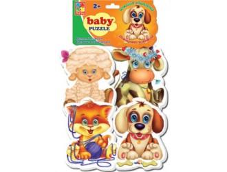 """VT1106-07 Baby Puzzle """"Animale domestice"""" (l.rusa)"""
