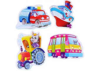"""VT1106-08 Baby Puzzle """"Vehicule"""" (l.rusa)"""