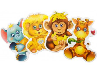"""VT1106-10 Baby Puzzle """"ZOO"""" (l.rusa)"""