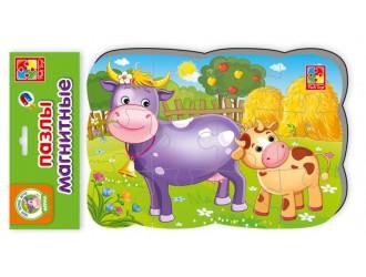 "VT3205-55 Puzzle magnetic A5 ""Vaca cu vitelul"""