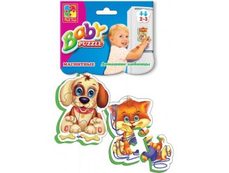 """VT3208-02 Baby Puzzle magnetic """"Animale domestice"""""""