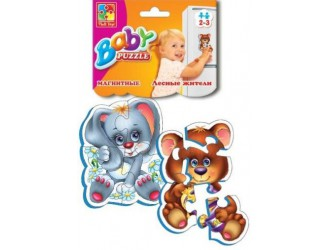 """VT3208-03 Baby Puzzle magnetic """"Animale salbatice"""""""