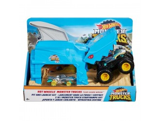 GKY01 Hot Wheels Monster Trucks Set Pit and Launch