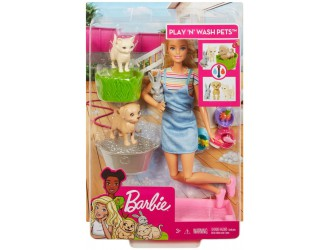 FXH11 Set Barbie Play and Wash Pets