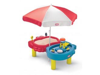 401L00070  Masuta de joaca Little Tikes pentru nisip si apa cu umbreluta