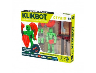 TST2600R  Set de joaca KLIKBOT S1 pentru animatie - STUDIO (2 figuri exclusive, trepied, rosu)