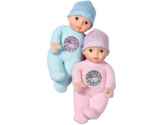 703670 Papusa bebelus BABY ANNABELL textila 1 bucata   (22 cm, 2 in asortiment roz/albastra)