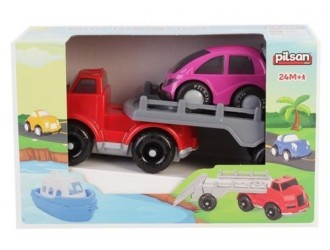 07674 MASTER TRANSPORT TRUCK WITH CAR