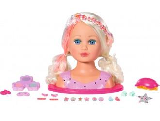 827307 Jucarie Cap de Papusa Manechin Coafuri Baby Born cu accesorii