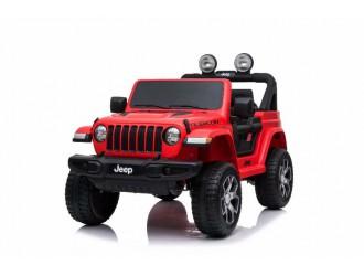 SMBJWR555 Automobil pe acumulator Jeep Wrangler Rubicon rosu