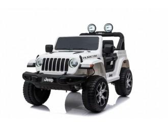 SMBJWR555 Automobil pe acumulator Jeep Wrangler Rubicon alb