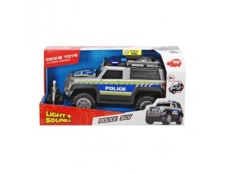 "3306003 Dickie auto ""Jeep Politie"" sunet & lumina"