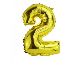 Balon cifra 2 folie 18 inc (4 culori in asortiment)