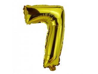 Balon cifra 7 folie 18 inc (4 culori in asortiment)
