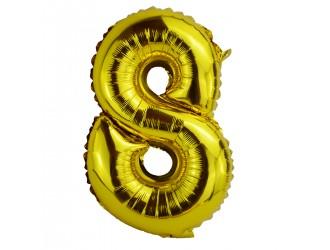 Balon cifra 8 folie 18 inc (4 culori in asortiment)