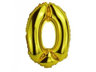 Balon cifra 0 folie 40 inc (2 culori in asortiment)