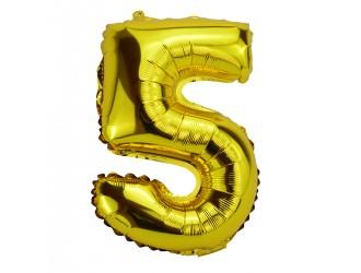 Balon cifra 5 folie 40 inc (2 culori in asortiment)