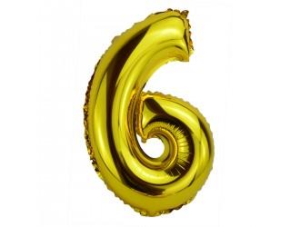 Balon cifra 6 folie 40 inc (2 culori in asortiment)