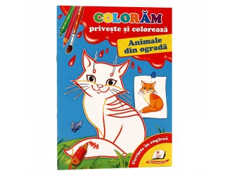 73389 Priveste si coloreaza. Animale din ograda