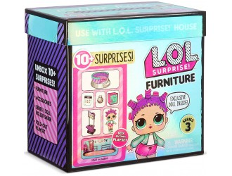 567103 Set mobila L.O.L. Surprise! Furniture Seria 3 Rollerdrom cu Roller Sk8er
