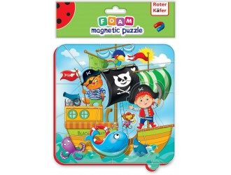 RK5010-01 Puzzle magnetic Pirati 16 piese Roter Kafer